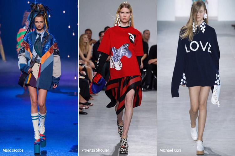 Модели в одежде оверсайз - модные тенденции весна/лето 2017