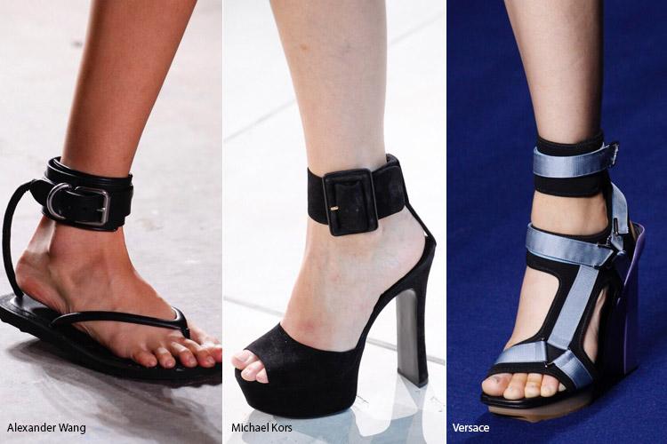 Ремешок на лодыжке - модная обувь весна/лето 2017