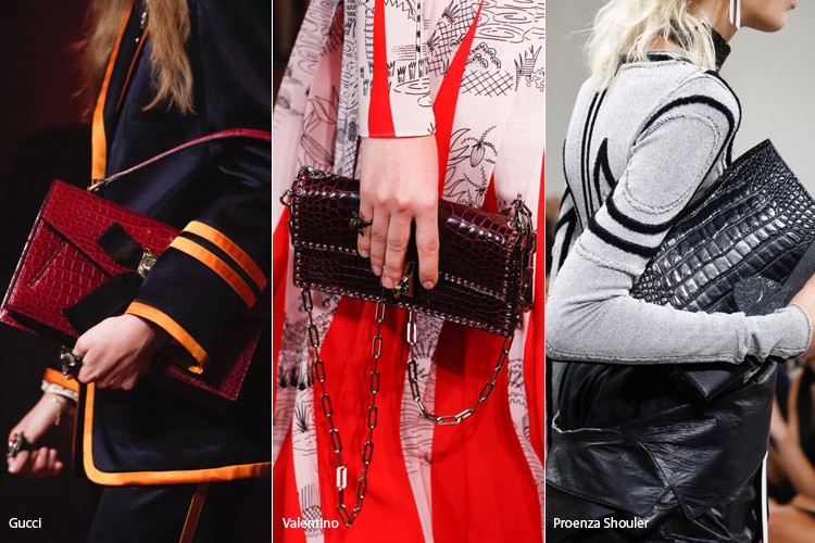 Кожа рептилии - модные сумки весна/лето 2017