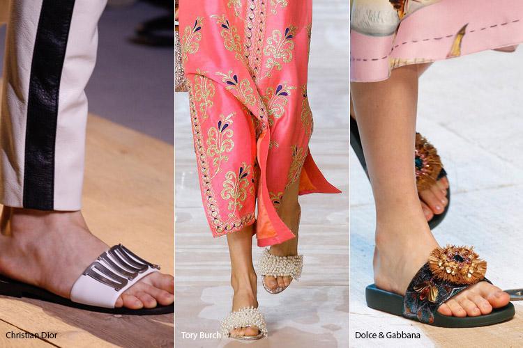 Шлепанцы - модная обувь весна/лето 2017