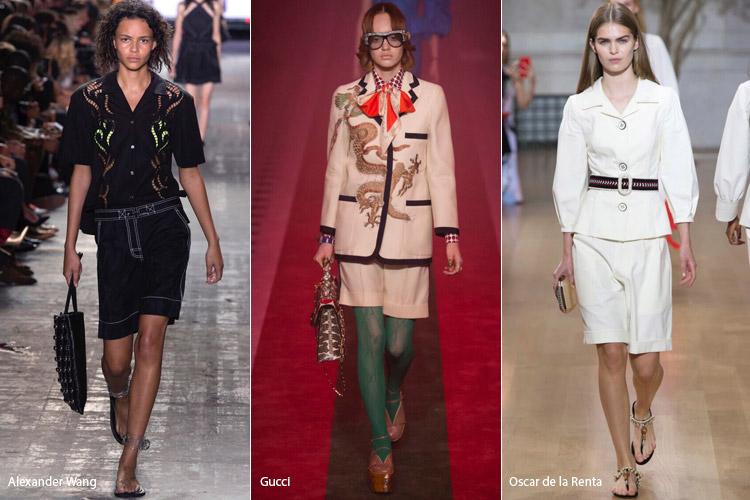 Модели в шортах-бермудах - модные тенденции весна/лето 2017