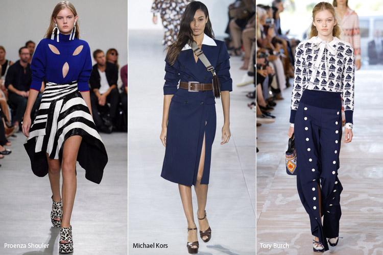 Модели в синем - модные тенденции весна/лето 2017