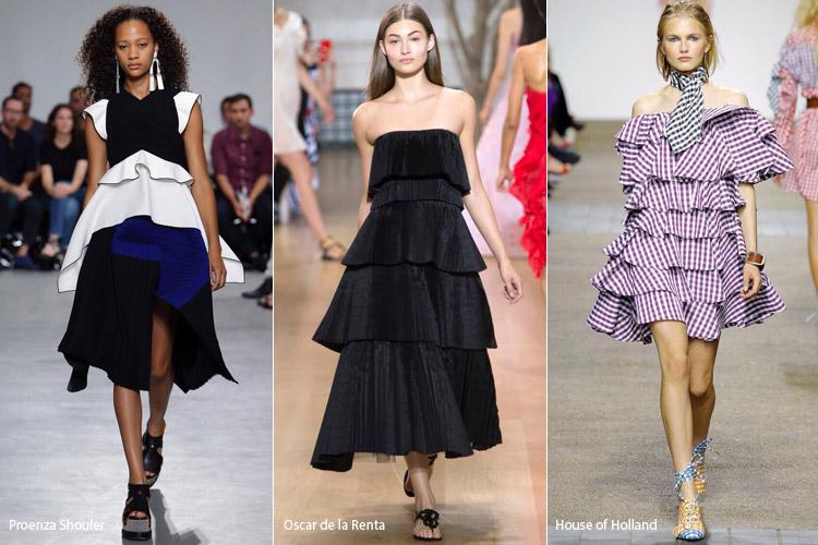 Модели в слоенных платьях - модные тенденции весна/лето 2017