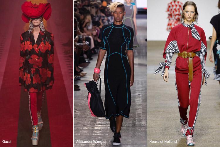 Модели одеты в спортивном стиле - модные тенденции весна/лето 2017