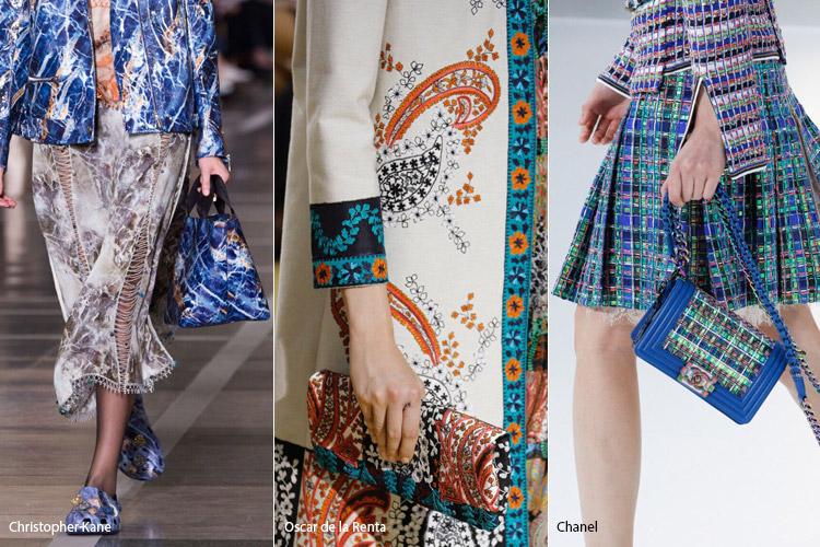 Похожие принты 2 - модные сумки весна/лето 2017