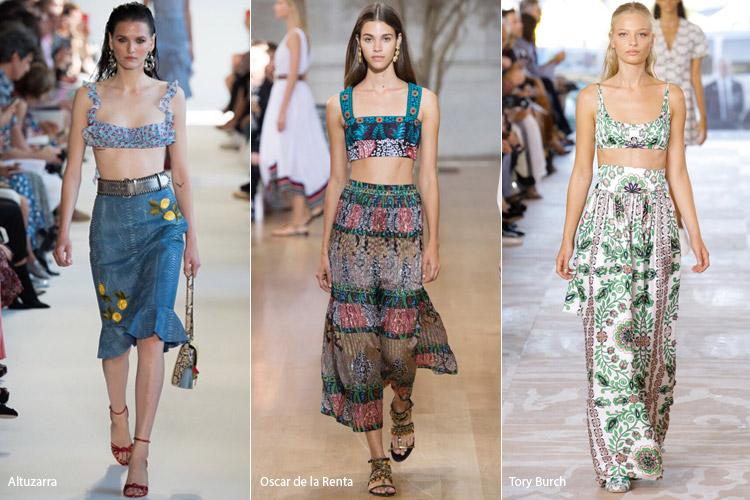 Модели в кроп-топах - модные тенденции весна/лето 2017
