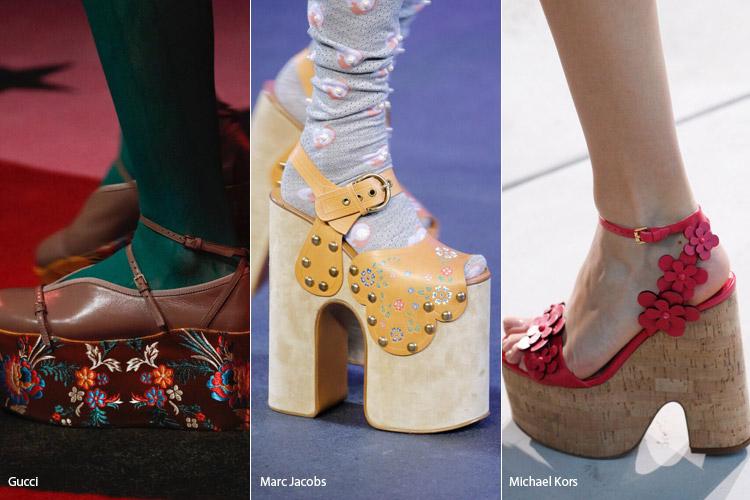 Цветочный декор - модная обувь весна/лето 2017