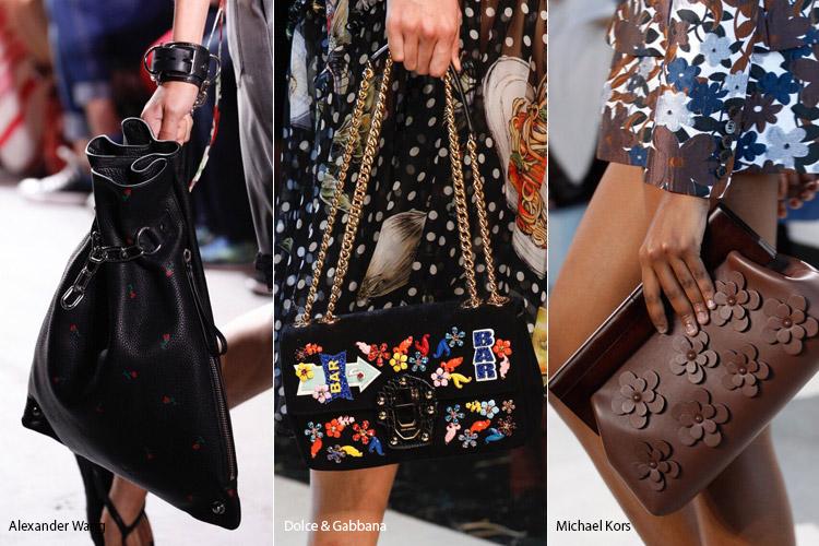 Цветочный декор - модные сумки весна/лето 2017