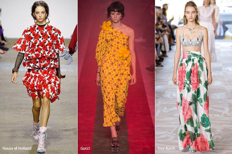 Модели в платьях с цветочным принтом - модные тенденции весна/лето 2017