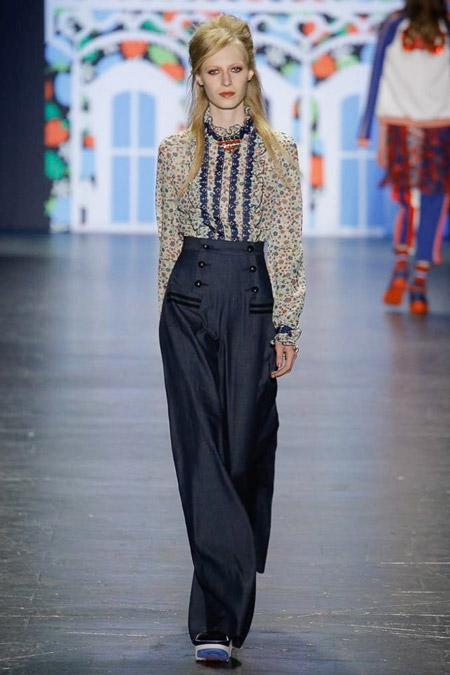 Anna Sui - Модные женские брюки весна/лето 2017, тенденции