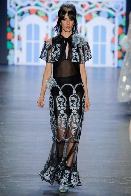 Anna Sui - модные вечерние платья сезона весна/лето 2017
