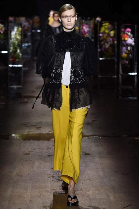 Dries Van Noten - Модные женские брюки весна/лето 2017, тенденции