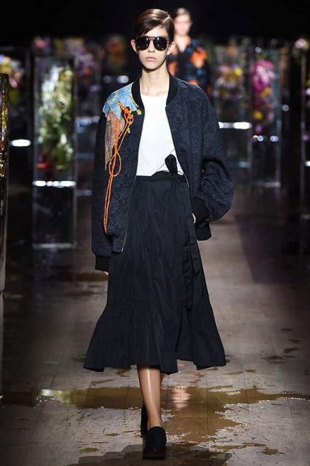 Dries Van Noten - модные куртки весна/лето 2017, женские