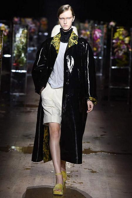 Dries Van Noten - модные женские пальто весна/лето 2017