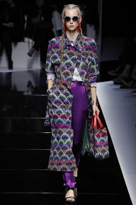 Emporio Armani - модные плащи весна/лето 2017