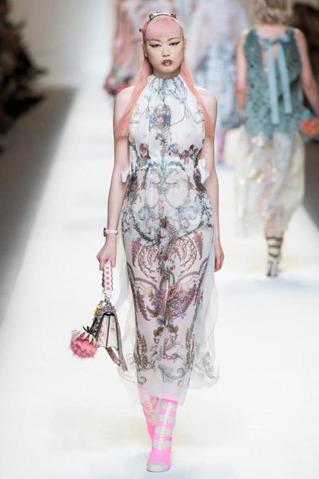 Fendi - модные вечерние платья сезона весна/лето 2017