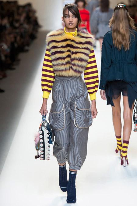 Fendi - Модные женские брюки весна/лето 2017, тенденции