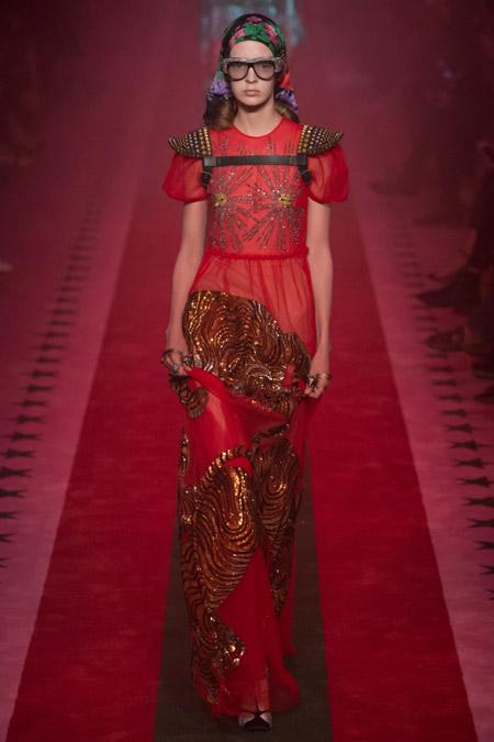 Gucci - модные вечерние платья сезона весна/лето 2017
