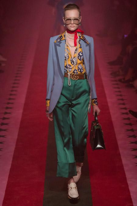 Gucci - Модные женские брюки весна/лето 2017, тенденции