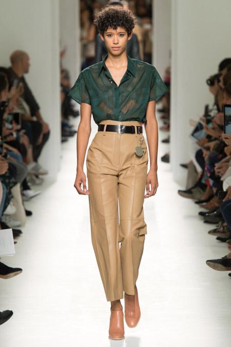 Hermes - Модные женские брюки весна/лето 2017, тенденции
