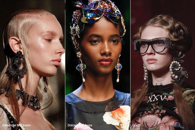 Модные аксессуары весна/лето 2017. Фото с показов: Alexander McQueen, Dolce & Gabbana, Gucci