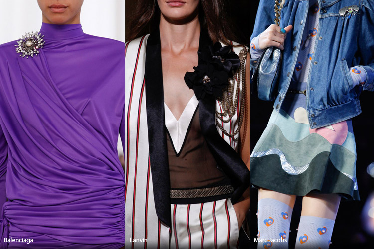 Модные аксессуары весна/лето 2017. Фото с показов: Balenciaga, Lanvin, Marc Jacobs