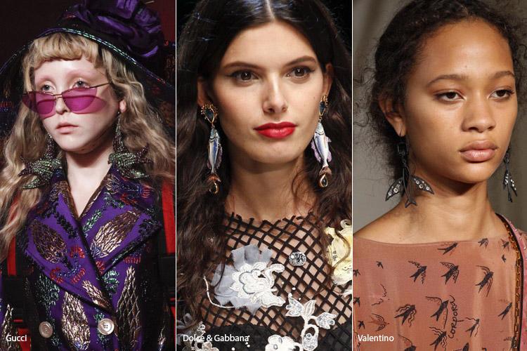 Модные аксессуары весна/лето 2017. Фото с показов: Gucci, Dolce & Gabbana, Valentino