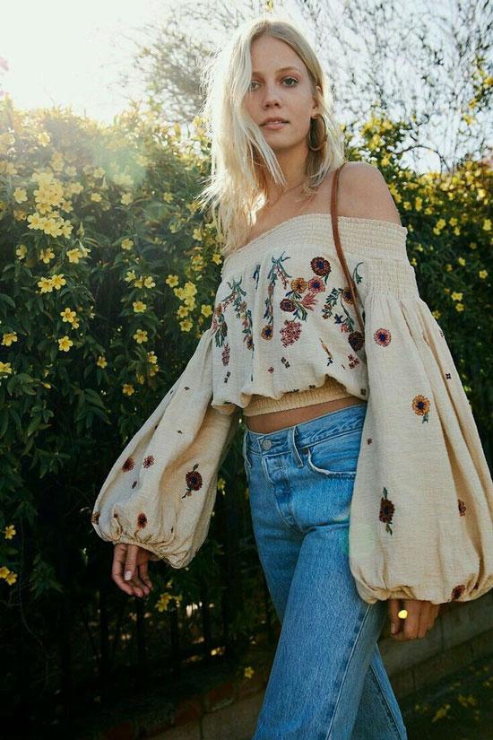 Блуза в стиле бохо 2020
