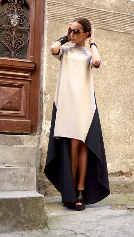 Девушка в асимметричном платье
