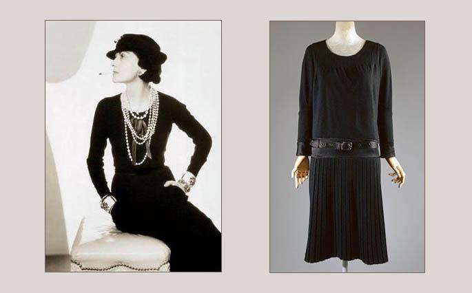 Коко Шанель и её платье