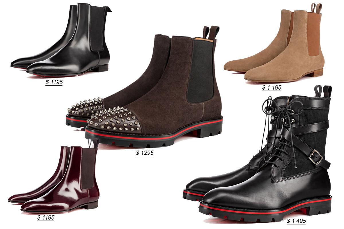 Мужские ботинки от Кристиан Лубутен