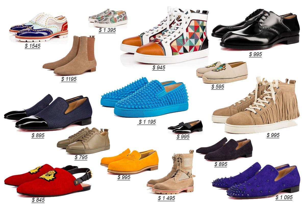 Различная мужская обувь от Кристиан Лубутен