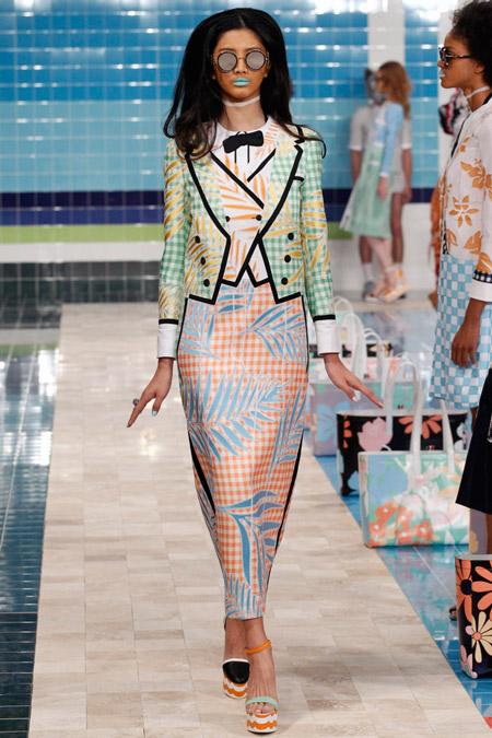 Модное платье футляр из весенне/летней коллекции Thom Browne 2017 г.
