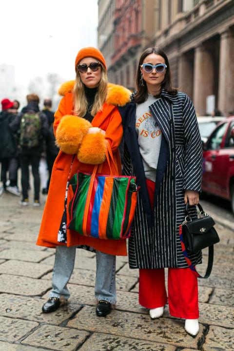 Девушки на улицах Милана в ярких образах