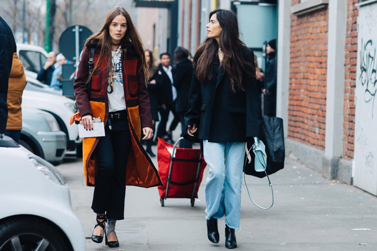 Девушки на улицах Милана
