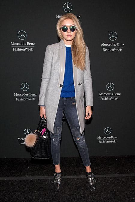 В Линкольн-центре на Нью-Йоркской недели моды, февраль 2015