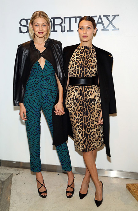 С Bella Hadid на Sportmax and Teen Vogue Celebrate The Fall/Winter 2014 Collection event