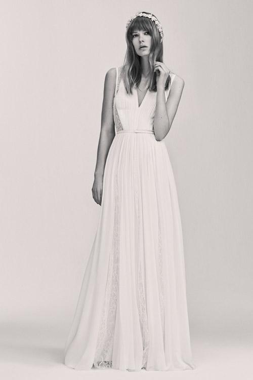 Белое платье от Elie Saab коллекция весна лето 2017