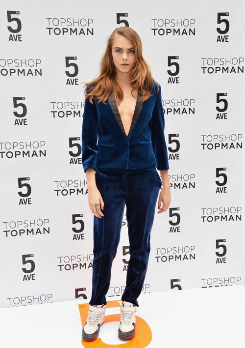 На торжественном открытии Topshop в Нью-Йорке, 4 ноября 2014