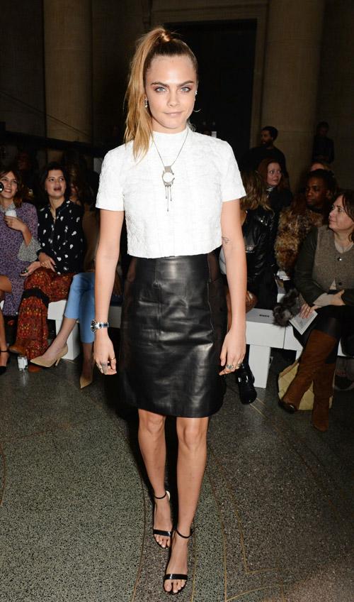 На показе Topshop во время лондонской недели моды, 22 февраля 2015