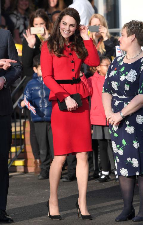 Во время посещения начальной школы Mitchell Brook в Лондоне, февраль 2017