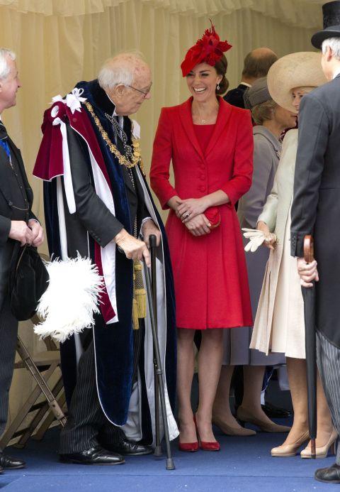 На Order of The Garter Service, Лондон июнь 2016