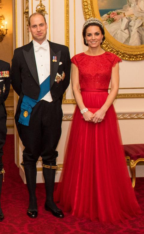 С Принцем Уильямом на приеме the Diplomatic Corps в Лондоне, декабрь 2016