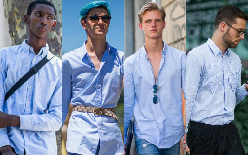 Лавандовая-рубашка - тренды-уличной-моды-в-мужской-одежде-весна-лето-2017