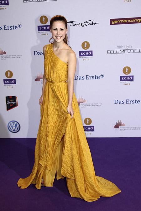 Лена Мейер в греческом платье