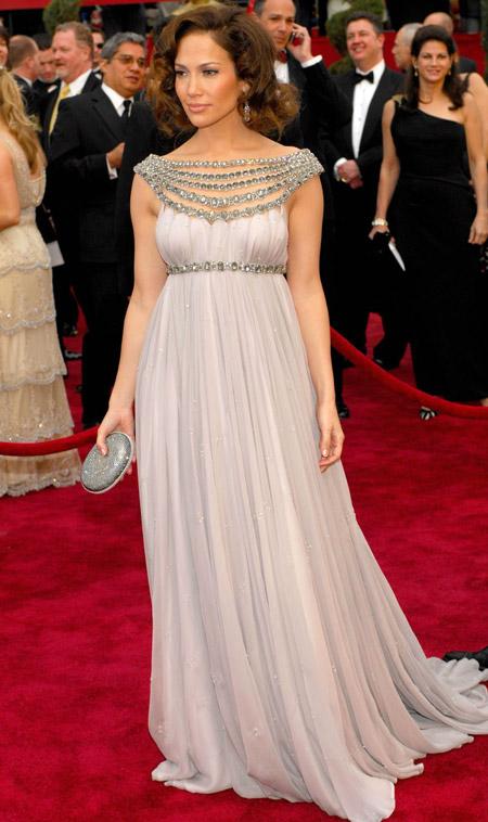 Дженнифер Лопес в греческм платье