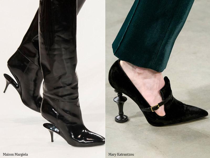 Оригинальный каблук - модные тенденции обувь осень 2017 / зима 2018