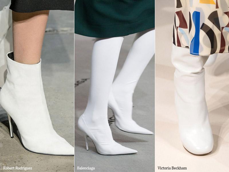 Идеальный белый - модные тенденции обувь осень 2017 / зима 2018