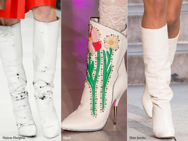 Сапоги белого цвета - модные тенденции обувь осень 2017 / зима 2018