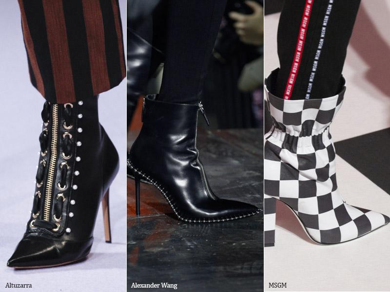 Ботильоны с острым носком - модные тенденции обувь осень 2017 / зима 2018
